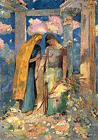 Mystical Conversation, c.1896, redon