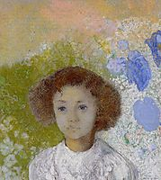 Portrait of Genevieve de Gonet as a Child, 1907, redon
