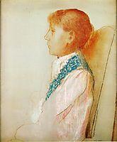 Portrait of Madame Redon in Profile, redon