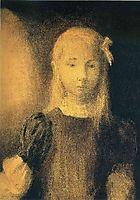 Portrait of Mademoiselle Jeanne Roberte de Domecy , redon