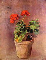 The Pot of Geraniums, c.1910, redon