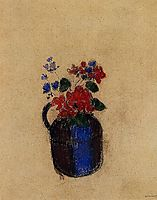 Small Bouquet in a Pitcher, redon