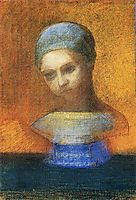 Small Bust Of A Young Girl, redon
