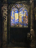 Stained Glass Window, redon