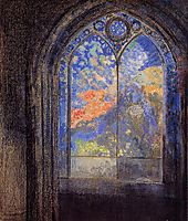 Stained Glass Window (The Mysterious Garden), c.1905, redon