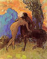 Struggle between Woman and Centaur, c.1905, redon