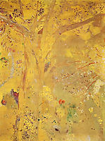 Tree Against a Yellow Background, 1901, redon