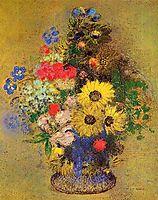 Vase of Flowers, redon