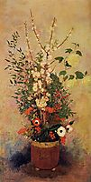 Vase of Flowers with Branches of a Flowering Apple Tree, c.1906, redon