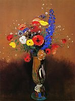 Wild flowers in a Long-necked Vase, c.1912, redon