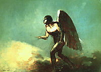 The Winged Man (The Fallen Angel), 1880, redon