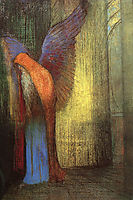 Winged Old Man with a Long White Beard, c.1900, redon
