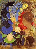 Woman among the Flowers, c.1910, redon