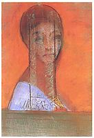 Woman with veil, 1895, redon
