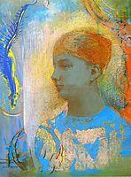 Young Girl Facing Left, redon
