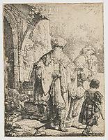 Abraham Dismissing Hagar, rembrandt