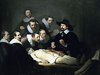 The Anatomy Lecture/Lesson of Doctor Nicolaes Tulp, 1632, rembrandt