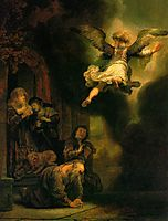 The Angel Leaving Tobias And His Family, 1641, rembrandt