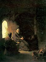 Anna and the Blind Tobit, rembrandt