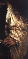 Aristotle with a Bust of Homer, detail 1, rembrandt