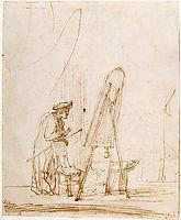 Artist in His Studio, 1633, rembrandt