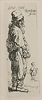 A Beggar and a Companion Piece, Turned to the Right, 1634, rembrandt