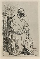 A Beggar Sitting in an Elbow Chair, 1630, rembrandt