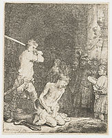The beheading of John the Baptist, 1640, rembrandt