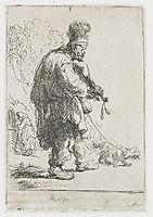 The blind fiddler, 1631, rembrandt