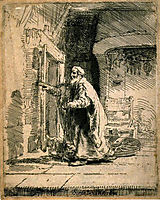 The Blindness of Tobit, 1651, rembrandt