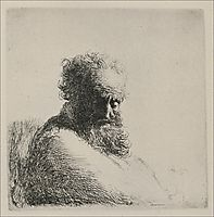 Bust of an Old Man with a Large Beard, 1631, rembrandt