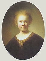 Bust of a Young Woman, 1632, rembrandt