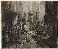 Christ crucified between the two thieves (Three crosses), 1659, rembrandt