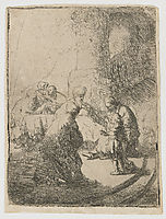 Christ disputing with the doctors, 1630, rembrandt