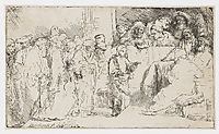 Christ disputing with the doctors, 1652, rembrandt