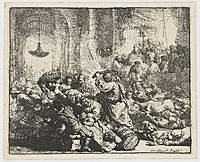 Christ driving the moneychangers from the Temple, 1635, rembrandt