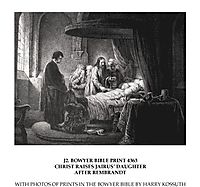 Christ raises Jairus, rembrandt