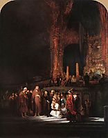 Christ and the Woman Taken in Adultery, 1644, rembrandt