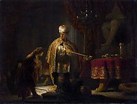 Daniel and Cyrus before the Idol Bel, 1633, rembrandt