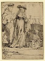 Death appearing to a wedded couple from an open grave, 1639, rembrandt