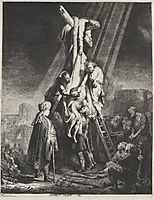 The descent from the cross, 1633, rembrandt