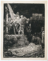 The descent from the cross by torchlight, 1654, rembrandt