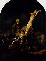 The Elevation Of The Cross, 1633, rembrandt