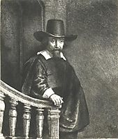 Ephraim Bonus (The Jew with the Banister), 1647, rembrandt