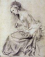 Female nude seated, Suzanne, 1634, rembrandt
