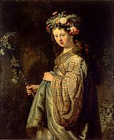 Flora , 1634, rembrandt
