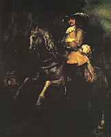 Frederick Rihel on Horseback, 1663, rembrandt