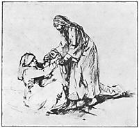 Healing of Peter`s Mother in law, 1660, rembrandt