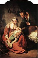 The Holy Family, 1630, rembrandt