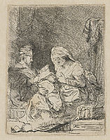 The holy family, 1632, rembrandt